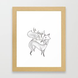 foxbite Framed Art Print