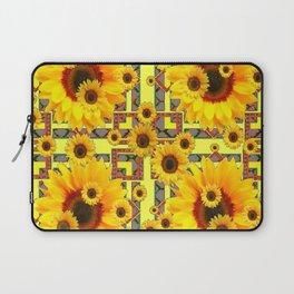 KANSAS WESTERN STYLE YELLOW SUNFLOWER FLORAL Laptop Sleeve