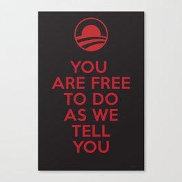 Obama meets Orwell / Freedom Canvas Print