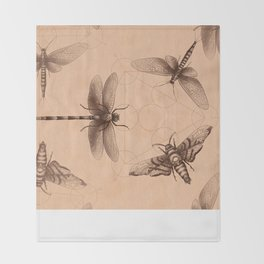 Dark Insect's Black Magic Throw Blanket