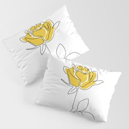 Lemon Rose Pillow Sham