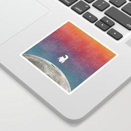 Moon Landing Sticker