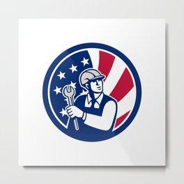 American Engineer USA Flag Icon Metal Print