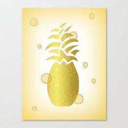 Golden Pineapple Decor -Fruit -Food Canvas Print