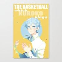kuroko Canvas Prints featuring The Basketball Which Kuroko Plays by Alyssa Tye