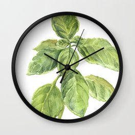 The Basil Plant Wall Clock