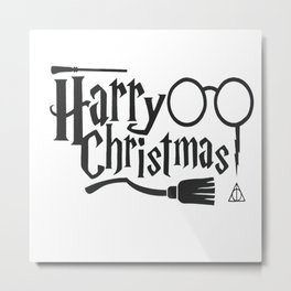 Harry Christmas Metal Print