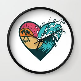 Wave Heart Wall Clock