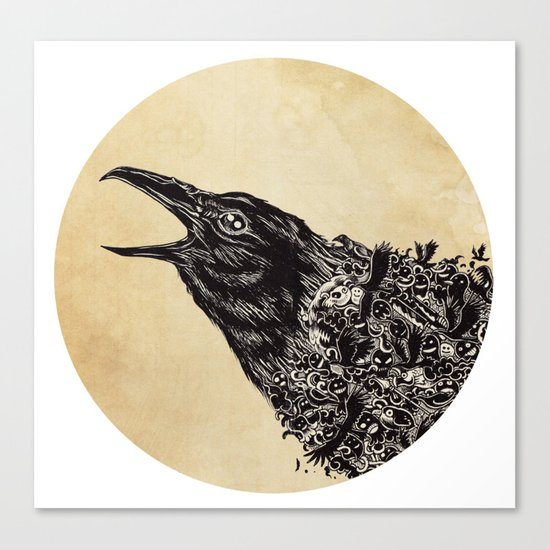 CROW-ded Canvas Print