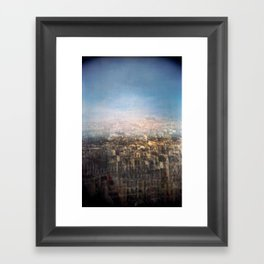 Paris Multiple Exposure  Framed Art Print
