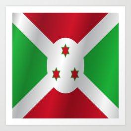 Flag of Burundi Art Print