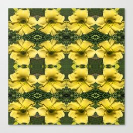 211 - Yellow lilies abstract pattern Canvas Print