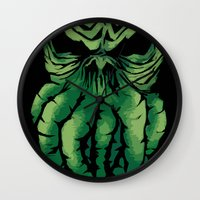 cthulhu Wall Clocks featuring Cthulhu by PCRK