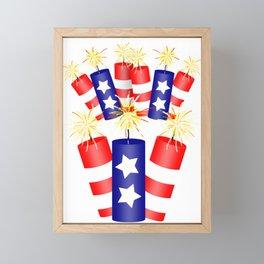 Firecracker Celebration Framed Mini Art Print