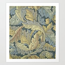 William Morris Acanthus Leaves Floral Art Nouveau Art Print
