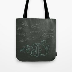 Hermann Chalkboard Clock design Tote Bag