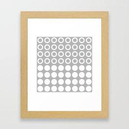 Mid Century Modern Circles And Dots Grey Framed Art Print