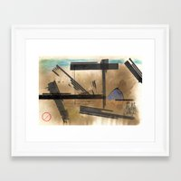 barcelona Framed Art Prints featuring Barcelona by Sergi S.M.