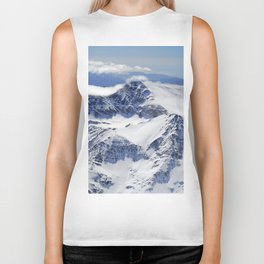 """Big mountains"". Aerial photography Biker Tank"