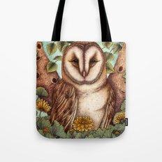 Spring Barn Owl Tote Bag
