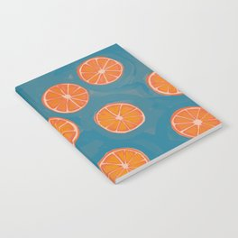 hand-painted california orange slices Notebook