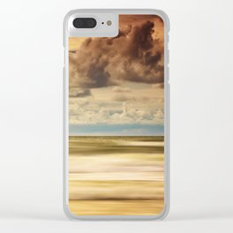 Stormy North Sea Clear iPhone Case