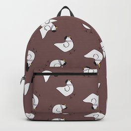 the happy french hen in lilac greige Backpack