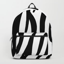 abstract modern safari animal black and white zebra print Backpack