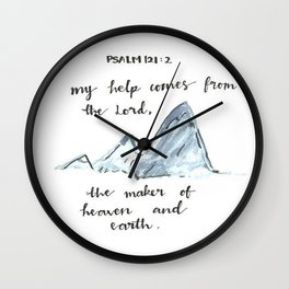 Psalm 121:2 Wall Clock
