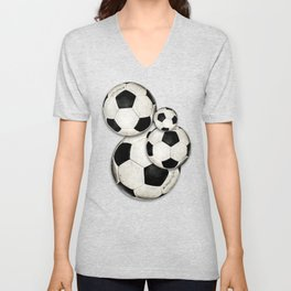 Dirty Balls - footballs Unisex V-Neck