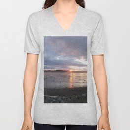 Panoramic Sunset on the Cove Unisex V-Neck