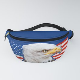 Patriotic Eagle 4th of July American Flag Fanny Pack