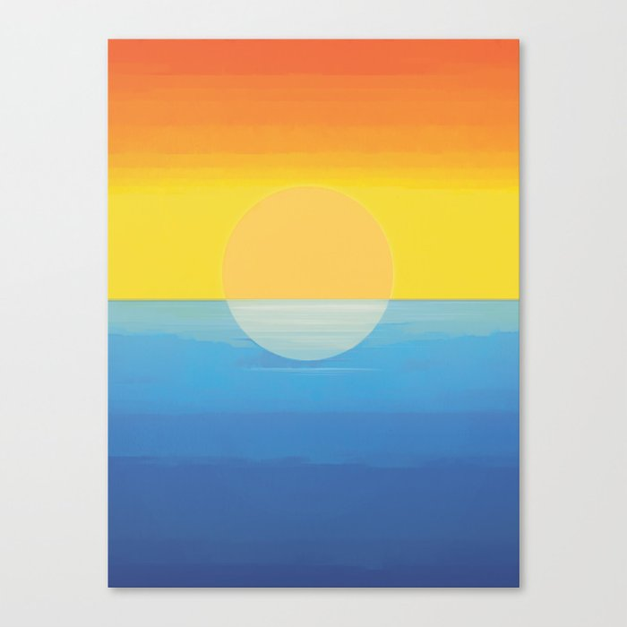 Sunset - Every Time We Say Goodbye Canvas Print