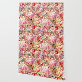 Summer Flowers | Colorful Watercolor Floral Pattern Abstract Sketch Wallpaper