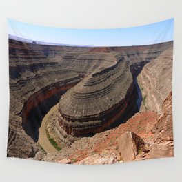 A Meander Of The Goosenecks Wall Tapestry
