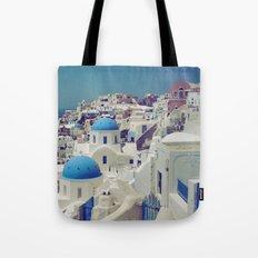 Blue Domes, Oia, Santorini, Greece Tote Bag