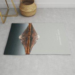 Mount Taranaki, New Zealand Artwork Rug