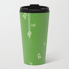 Leo Pattern - Green Travel Mug