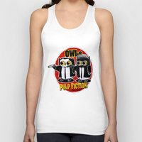 pulp fiction Tank Tops featuring Owls Pulp Fiction by Lime