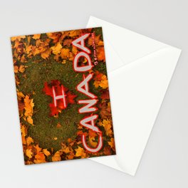 I Love Canada (Heart of Autumn) Stationery Cards