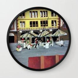 Frankfurt Germany Old Town – Acrylic Painting Wall Clock