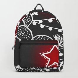 Cactus christmas tree with red star Backpack
