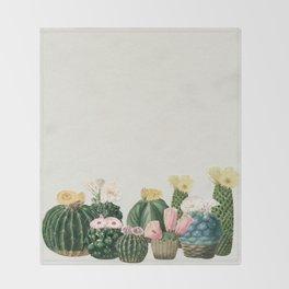 Cactus Garden Throw Blanket