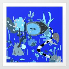 blu garden Art Print