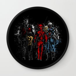 Violent Red Ninja Hero Wall Clock