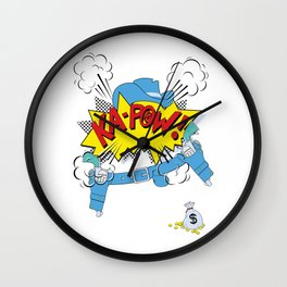 Ka-Pow Boy! Wall Clock