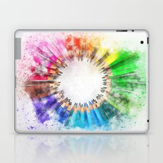 Rainbow Pencils Laptop & iPad Skin