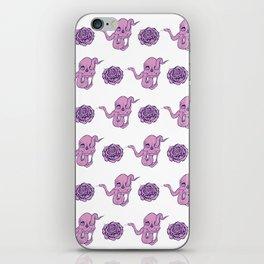 Through eyes skull. Pattern pink iPhone Skin