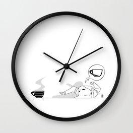 I Need Coffee (B&W) Wall Clock