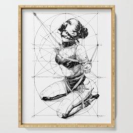 Restrained In Geometry. ©Yury Fadeev Serving Tray